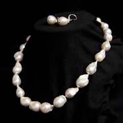 White Freshwater Baroque Pearl Suite